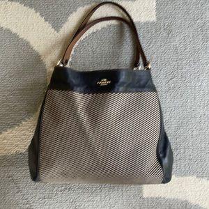 Coach Legacy Jacquard & Leather  Bag, Model F57540